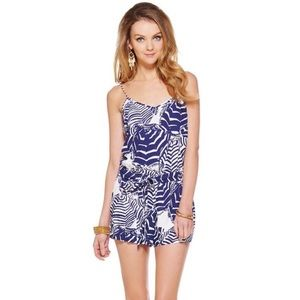 Lilly Pulitzer Deanna Romper in Oh Cabana Boy